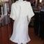เดรสผ้าไหมแพรทองสีขาว ปกผ้าแก้ว ไซส์ XL thumbnail 3