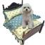 เตียงไม้สำหรับสัตว์เลี้ยงสไตล์วินเทจ พร้อมชุดเครื่องนอน ขนาดเล็กและขนาดกลาง thumbnail 3