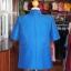 เสื้อสูทไหมผสมฝ้าย สีน้ำเงิน ไซส์ XL thumbnail 3