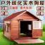 บ้านไม้หมาน้อยยกพื้น บ้านส่วนตัวของหมาน้อยขนาดกลางถึงใหญ่ มีกันสาด มุ้งลวด ระเบียงหน้าบ้านนั่งเล่น สีน้ำตาล thumbnail 1