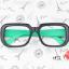 แว่นตาแฟชั่นเกาหลี ดำเขียว (ไม่มีเลนส์) (ของจริงสีเขียวเข้มกว่าในภาพ) thumbnail 1