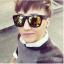 แว่นตากันแดดแฟชั่นเกาหลี กรอบดำเลนส์ปรอททอง thumbnail 2
