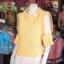 เสื้อผ้าฝ้ายสุโขทัย ปกและแขนผ้าแก้ว ไซส์ M thumbnail 2