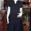 เดรสผ้าฝ้ายสีดำ คอจีน ไซส์ M thumbnail 1