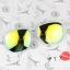 แว่นตากันแดดแฟชั่นเกาหลี กรอบขาวใสเลนส์ปรอททอง thumbnail 1