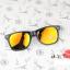 แว่นตากันแดดแฟชั่นเกาหลี กรอบดำสะท้อนแสงทอง thumbnail 3