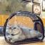 กระเป๋าสะพายสำหรับใส่สัตว์เลี้ยงเวลาเดินทางแบบโปร่งใส thumbnail 1