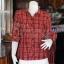 เสื้อผ้าฝ้ายทอลายสก็อต ปกเชิ้ตคอวี ไซส์ M thumbnail 1