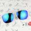 แว่นตากันแดดแฟชั่นเกาหลี กรอบขาวใสเลนส์ปรอทฟ้าม่วง thumbnail 1
