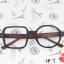 แว่นตาแฟชั่นเกาหลี กรอบสี่เหลี่ยมวงกลมสีดำไม้ (ไม่มีเลนส์) thumbnail 1