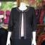 เสื้อคลุมผ้าฝ้ายสุโขทัยสีดำ แต่งปักไหม ไซส์ M thumbnail 1