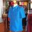 เสื้อสูทไหมผสมฝ้าย สีน้ำเงิน ไซส์ XL thumbnail 2