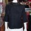 เสื้อผ้าฝ้ายสุโขทัยสีดำ ปกผ้าแก้ว ไซส์ XL thumbnail 4