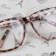 แว่นตาแฟชั่นเกาหลี สีน้ำตาลเสือดาว (พร้อมเลนส์) thumbnail 2