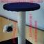 MU0056 คอนโดแมวห้าชั้น ต้นไม้แมว มีบ้านอุโมงค์ กระบะนอน ของเล่นแขวน สูง 150 cm thumbnail 10