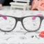 แว่นตาแฟชั่นเกาหลี เทาโรส (ไม่มีเลนส์) thumbnail 4