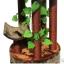 MU0117 คอนโดแมวขนาดใหญ่หกชั้น ต้นไม้แมว กระบะนอน ของเล่นแขวน มีเถาวัลย์ใบไม้พันรอบต้นไม้ เหมือนปีนบนต้นไม้ในป่า สูง 190 cm thumbnail 5