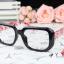 แว่นตาแฟชั่นเกาหลี กรอบดำดอกไม้แดง (ไม่มีเลนส์) thumbnail 2