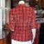 เสื้อผ้าฝ้ายทอลายสก็อต ปกเชิ้ตคอวี ไซส์ M thumbnail 3