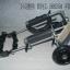 รถเข็นสำหรับสัตว์พิการ วีลแชร์หมา วีลแชร์แมว วีลแชร์สำหรับสัตว์เลี้ยงอายุมาก ขนาดเล็ก สำหรับขาหลัง รุ่น CF-01 thumbnail 3