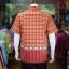 เสื้อเชิ้ตผ้าฝ้ายทอลายช้าง ไม่อัดผ้ากาว สีแดง-เหลือง ไซส์ L thumbnail 3