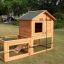 บ้านสัตว์เลี้ยง บ้านหมา บ้านแมว กระต่ายหนูไก่ นก อากาศถ่ายเทได้สะดวก 2 ชั้น ขนาดกลาง สีไม้ธรรมชาติ thumbnail 8