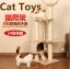 คอนโดแมวสามชั้น ต้นไม้แมว ที่ฝนเล็บ มีของเล่นแขวน thumbnail 1