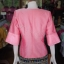 เสื้อผ้าไหมแพรทองแต่งลูกไม้ สีชมพู ไซส์ L thumbnail 3