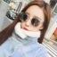 แว่นตากันแดดแฟชั่นเกาหลี กรอบขาวใส เลนส์ปรอทสีกระจก thumbnail 1