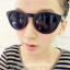 แว่นตากันแดดแฟชั่นเกาหลี กรอบวินเทจสีดำด้าน thumbnail 1
