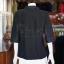 เสื้อผ้าฝ้ายสุโขทัยสีดำ ปกเชิ้ตคอวี ไซส์ L thumbnail 3