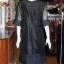 เดรสผ้าไหมแพรทองเนื้อเงา แขนผ้าชีฟอง ไซส์ XL thumbnail 3