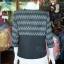 เสื้อคลุมผ้าทอลายลูกแก้วสีดำแต่งผ้าลายมัดหมี่สุโขทัย ไซส์ 2XL thumbnail 3