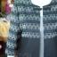 เสื้อคลุมผ้าทอลายลูกแก้วสีดำแต่งผ้าลายมัดหมี่สุโขทัย ไซส์ 2XL thumbnail 4