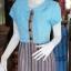 เดรสผ้าฝ้ายสุโขทัยแต่งผ้ามุกสายรุ้ง ไซส์ XL thumbnail 2
