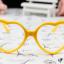 แว่นตาแฟชั่นเกาหลี กรอบหัวใจสีเหลือง (ไม่มีเลนส์) thumbnail 1