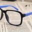 แว่นตาแฟชั่นเกาหลี กรอบดำฟ้า (ไม่มีเลนส์) (ของจริงสีออกฟ้าน้ำทะเล) thumbnail 2