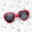 แว่นตากันแดดแฟชั่นเกาหลี กรอบหัวใจสีแดง thumbnail 3