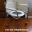 C008 เก้าอี้นั่งถ่าย เหล็กชุบโครเมี่ยม พับได้ มีล้อ ปรับระดับได้ thumbnail 1