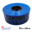 เทปฝังใต้ดิน สีน้ำเงิน ตัวอักษรสีดำ CAUTION BURIED WATER LINE BELOW กว้าง 75 mm. (3 in.) x ยาว 305 เมตร thumbnail 1