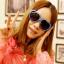 แว่นตากันแดดแฟชั่นเกาหลี กรอบหัวใจสีน้ำเงิน thumbnail 1