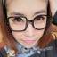 แว่นตาแฟชั่นเกาหลี กรอบสี่เหลี่ยมวงกลมสีดำมัน (ไม่มีเลนส์) thumbnail 1