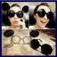 แว่นตากันแดดแฟชั่นเกาหลี แว่นกันแดดมิกกี้เม้าส์ กรอบขาวเลนส์ด้านในสีใส เลนส์ด้านนอกสีดำ thumbnail 1