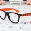 แว่นตาแฟชั่นเกาหลี หมากรุกดำส้ม (ไม่มีเลนส์) thumbnail 1