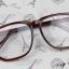 แว่นตาแฟชั่นเกาหลี สีน้ำตาล (พร้อมเลนส์) thumbnail 2