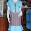 เดรสผ้าฝ้ายสุโขทัยแต่งผ้ามุกสายรุ้ง ไซส์ XL thumbnail 1