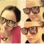 แว่นตากันแดดแฟชั่นเกาหลี กรอบดำด้านเลนส์กระจก thumbnail 1
