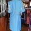 เดรสผ้าฝ้ายสุโขทัยสีฟ้าแต่งลูกไม้ปักมุก ไซส์ 3XL thumbnail 3