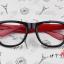แว่นตาแฟชั่นเกาหลี กระโหลกดำแดง (ไม่มีเลนส์) thumbnail 1