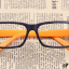 แว่นตาแฟชั่นเกาหลี สีดำส้ม (ไม่มีเลนส์) (ของจริงสีส้มเข้มกว่าในภาพคะ) thumbnail 1